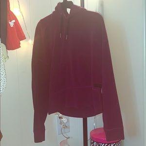 Calvin Klein cropped sweatshirt with hood